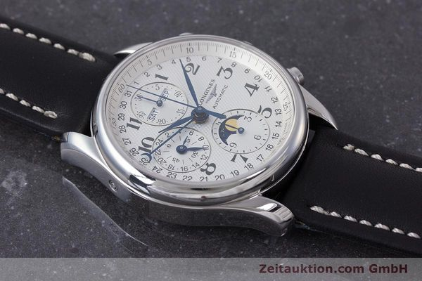 Used luxury watch Longines Master Collection chronograph steel automatic Kal. L678.2 Ref. L2.673.4  | 162097 12