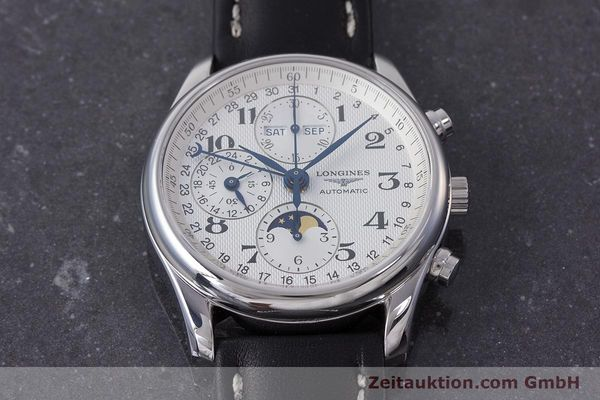 Used luxury watch Longines Master Collection chronograph steel automatic Kal. L678.2 Ref. L2.673.4  | 162097 13