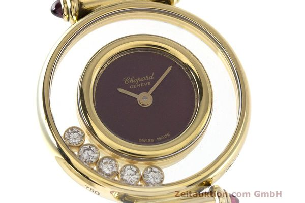 Used luxury watch Chopard Happy Diamonds 18 ct gold quartz Kal. ETA 201001 Ref. 20/4780-21  | 162108 02
