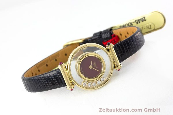 Used luxury watch Chopard Happy Diamonds 18 ct gold quartz Kal. ETA 201001 Ref. 20/4780-21  | 162108 03