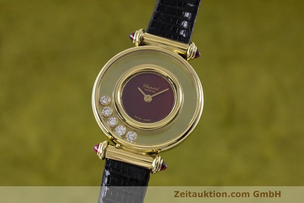 CHOPARD LADY 18K GOLD HAPPY DIAMONDS DAMENUHR DIAMANTEN REF 4112 VP: 10940,-EUR [162108]