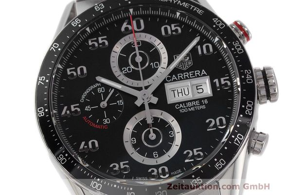 Used luxury watch Tag Heuer Carrera chronograph steel automatic Kal. 16 ETA 7750 Ref. CV2A10  | 162111 02