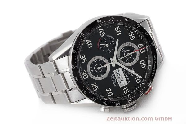 Used luxury watch Tag Heuer Carrera chronograph steel automatic Kal. 16 ETA 7750 Ref. CV2A10  | 162111 03