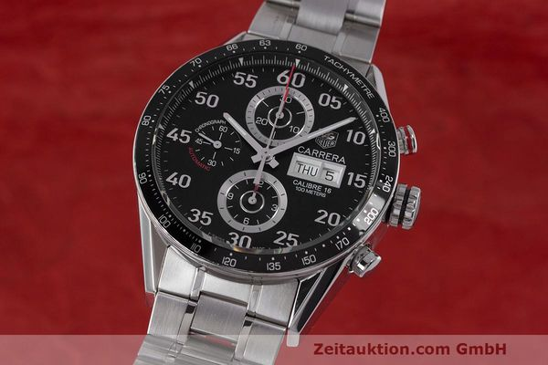 Used luxury watch Tag Heuer Carrera chronograph steel automatic Kal. 16 ETA 7750 Ref. CV2A10  | 162111 04