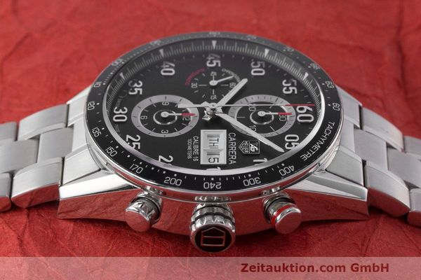 Used luxury watch Tag Heuer Carrera chronograph steel automatic Kal. 16 ETA 7750 Ref. CV2A10  | 162111 05