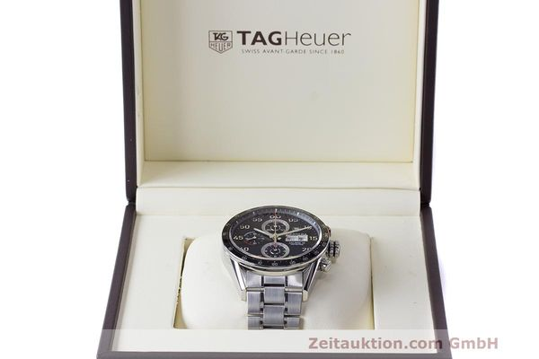 Used luxury watch Tag Heuer Carrera chronograph steel automatic Kal. 16 ETA 7750 Ref. CV2A10  | 162111 07
