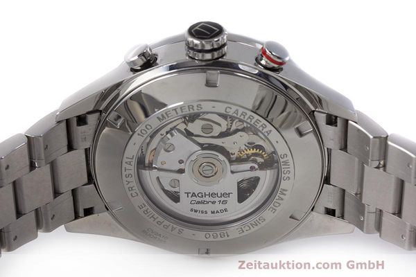 Used luxury watch Tag Heuer Carrera chronograph steel automatic Kal. 16 ETA 7750 Ref. CV2A10  | 162111 09