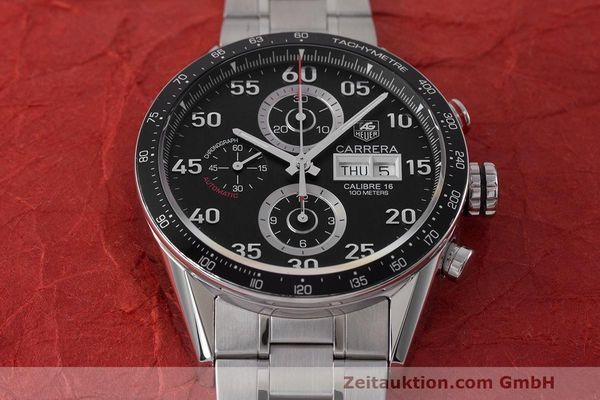 Used luxury watch Tag Heuer Carrera chronograph steel automatic Kal. 16 ETA 7750 Ref. CV2A10  | 162111 17