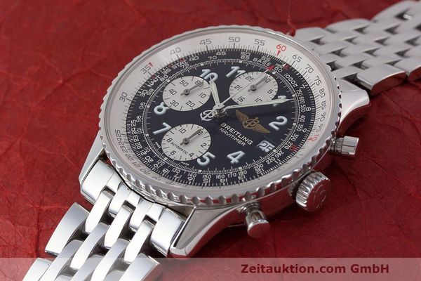 Used luxury watch Breitling Navitimer chronograph steel automatic Kal. B13 ETA 7750 Ref. A13322  | 162116 01