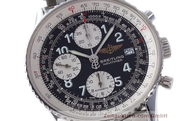 Used luxury watch Breitling Navitimer chronograph steel automatic Kal. B13 ETA 7750 Ref. A13322  | 162116 02