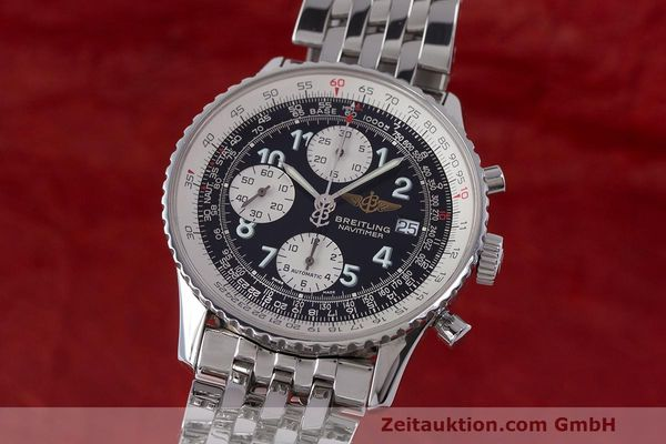 Used luxury watch Breitling Navitimer chronograph steel automatic Kal. B13 ETA 7750 Ref. A13322  | 162116 04