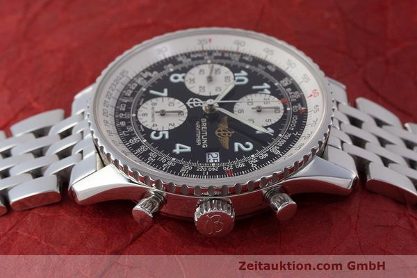 Used luxury watch Breitling Navitimer chronograph steel automatic Kal. B13 ETA 7750 Ref. A13322  | 162116 05