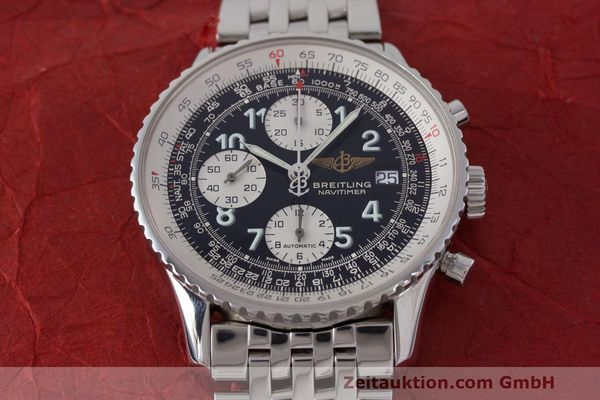 Used luxury watch Breitling Navitimer chronograph steel automatic Kal. B13 ETA 7750 Ref. A13322  | 162116 17