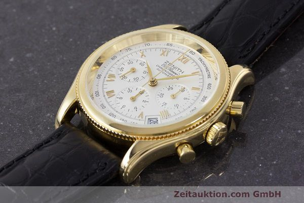 Used luxury watch Zenith El Primero chronograph 18 ct gold automatic Kal. 400 Ref. 06.0210.400  | 162119 01