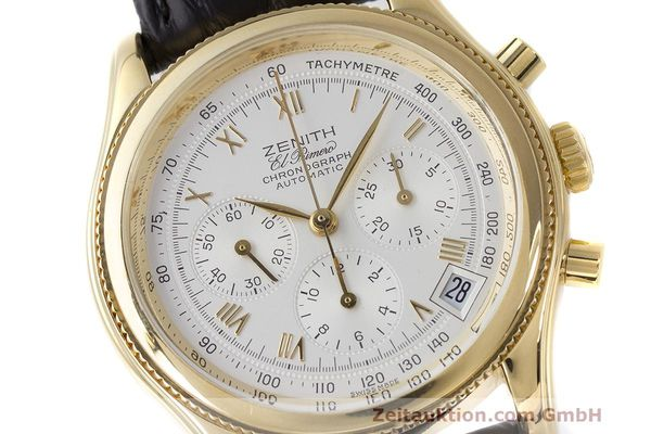 Used luxury watch Zenith El Primero chronograph 18 ct gold automatic Kal. 400 Ref. 06.0210.400  | 162119 02