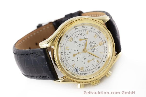 Used luxury watch Zenith El Primero chronograph 18 ct gold automatic Kal. 400 Ref. 06.0210.400  | 162119 03