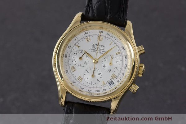 Used luxury watch Zenith El Primero chronograph 18 ct gold automatic Kal. 400 Ref. 06.0210.400  | 162119 04