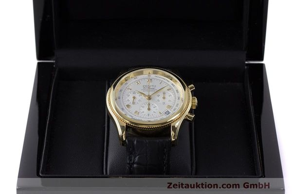 Used luxury watch Zenith El Primero chronograph 18 ct gold automatic Kal. 400 Ref. 06.0210.400  | 162119 07