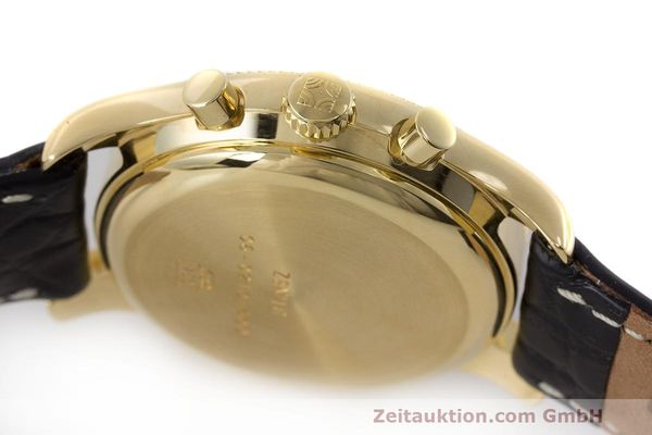 Used luxury watch Zenith El Primero chronograph 18 ct gold automatic Kal. 400 Ref. 06.0210.400  | 162119 08