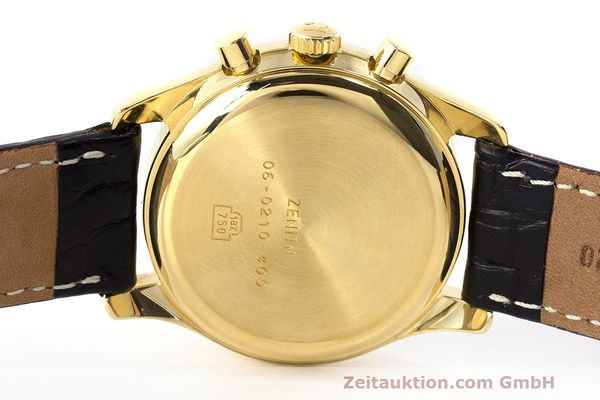 Used luxury watch Zenith El Primero chronograph 18 ct gold automatic Kal. 400 Ref. 06.0210.400  | 162119 09
