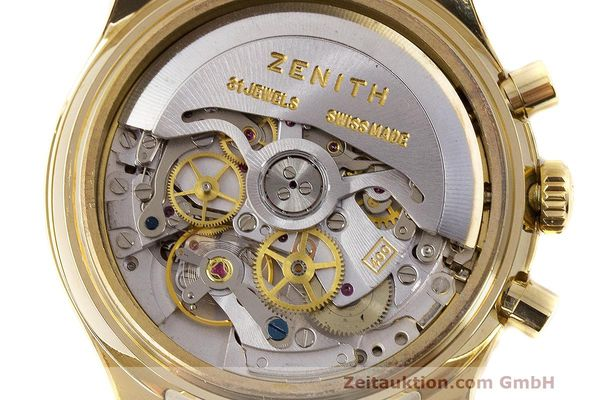 Used luxury watch Zenith El Primero chronograph 18 ct gold automatic Kal. 400 Ref. 06.0210.400  | 162119 10