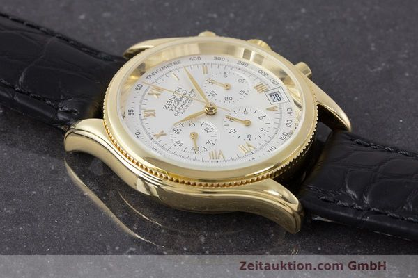 Used luxury watch Zenith El Primero chronograph 18 ct gold automatic Kal. 400 Ref. 06.0210.400  | 162119 12
