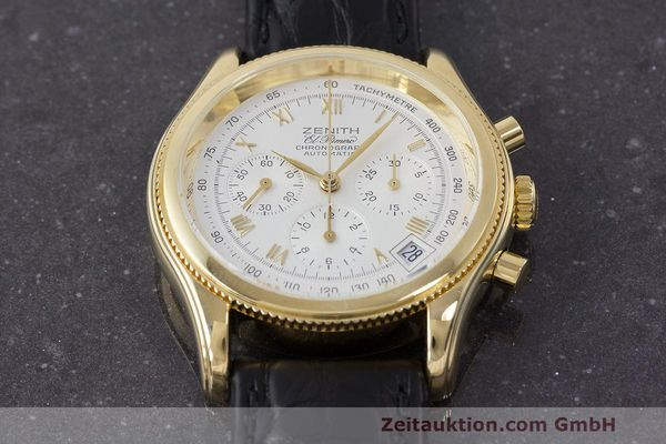 Used luxury watch Zenith El Primero chronograph 18 ct gold automatic Kal. 400 Ref. 06.0210.400  | 162119 13