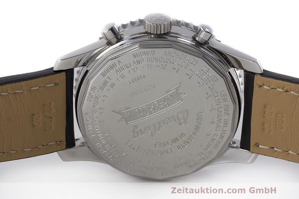 Used luxury watch Breitling Montbrillant chronograph steel automatic Kal. B21 ETA 7751 Ref. A21330  | 162137 09