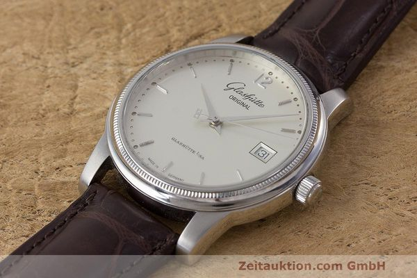 Used luxury watch Glashütte Senator steel automatic Kal. GUB 39  | 162138 01