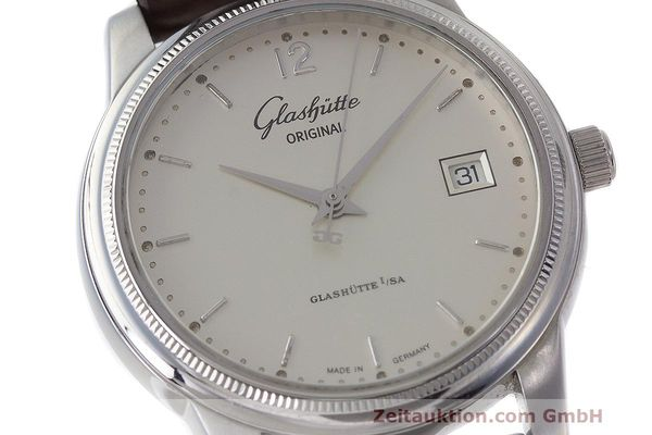 Used luxury watch Glashütte Senator steel automatic Kal. GUB 39  | 162138 02