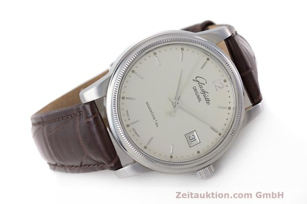Used luxury watch Glashütte Senator steel automatic Kal. GUB 39  | 162138 03