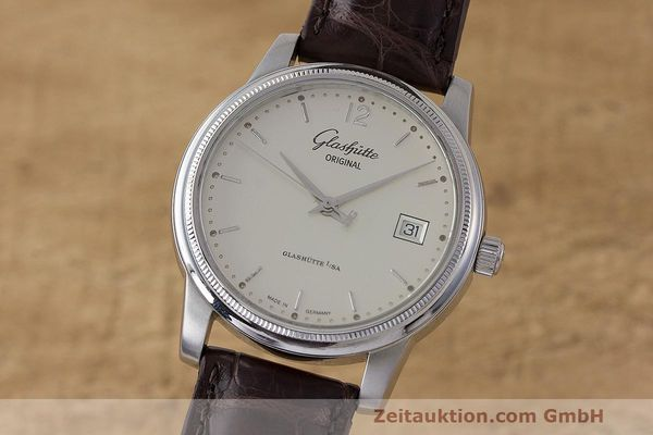 Used luxury watch Glashütte Senator steel automatic Kal. GUB 39  | 162138 04