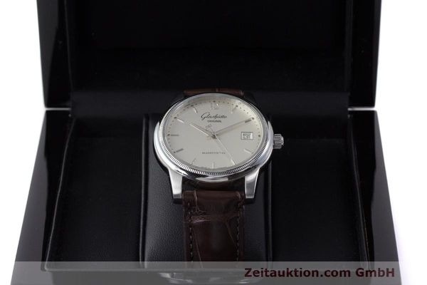 Used luxury watch Glashütte Senator steel automatic Kal. GUB 39  | 162138 07