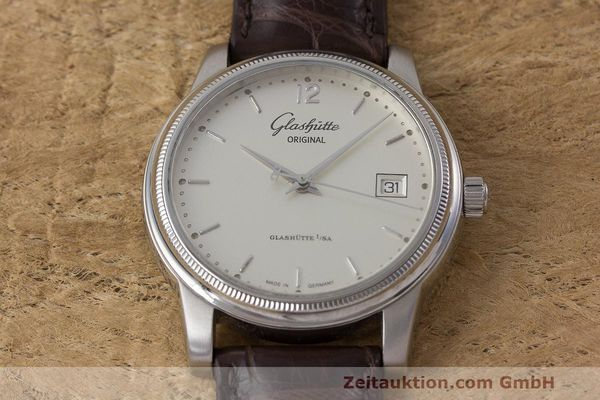 Used luxury watch Glashütte Senator steel automatic Kal. GUB 39  | 162138 15