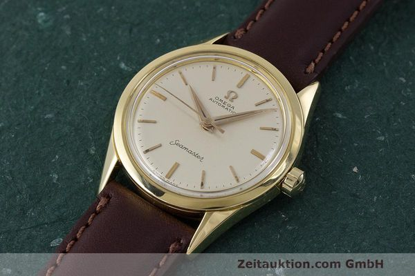 Used luxury watch Omega Seamaster 18 ct gold automatic Kal. 471 Ref. 2802SC VINTAGE  | 162143 01