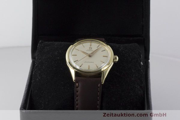 Used luxury watch Omega Seamaster 18 ct gold automatic Kal. 471 Ref. 2802SC VINTAGE  | 162143 07