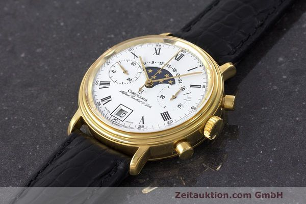 Used luxury watch Chronoswiss A. Rochat chronograph gold-plated manual winding Kal. Valj. 7733 Ref. 34300  | 162168 01