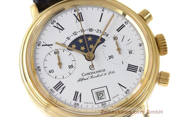 Used luxury watch Chronoswiss A. Rochat chronograph gold-plated manual winding Kal. Valj. 7733 Ref. 34300  | 162168 02