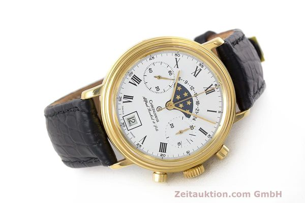 Used luxury watch Chronoswiss A. Rochat chronograph gold-plated manual winding Kal. Valj. 7733 Ref. 34300  | 162168 03
