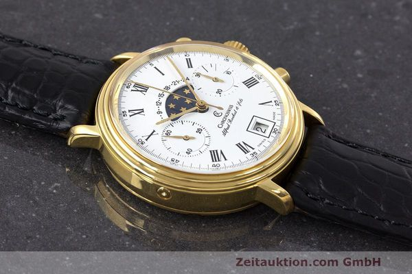 Used luxury watch Chronoswiss A. Rochat chronograph gold-plated manual winding Kal. Valj. 7733 Ref. 34300  | 162168 12