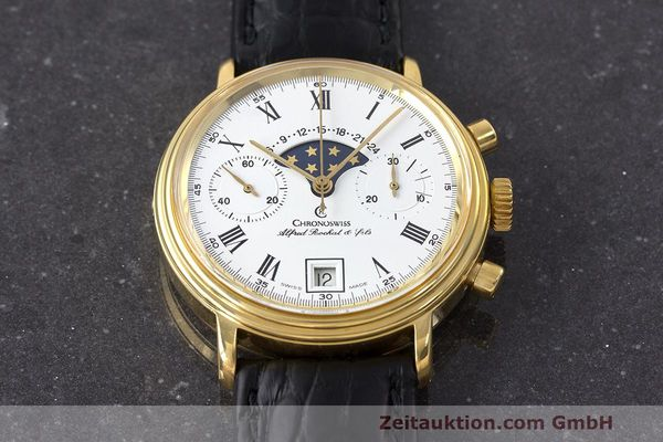 Used luxury watch Chronoswiss A. Rochat chronograph gold-plated manual winding Kal. Valj. 7733 Ref. 34300  | 162168 13