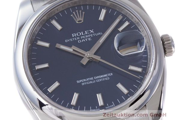 Used luxury watch Rolex Date steel automatic Kal. 3135 Ref. 115200  | 162174 02