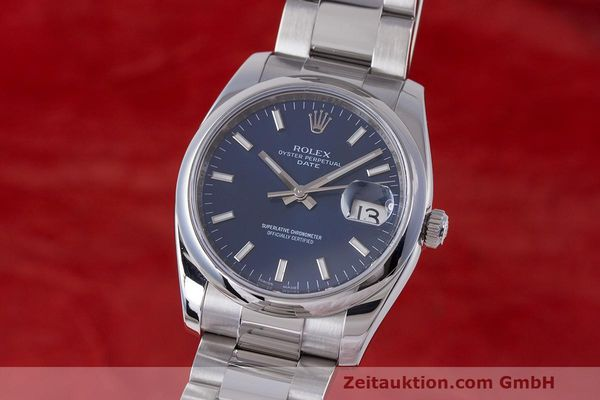 Used luxury watch Rolex Date steel automatic Kal. 3135 Ref. 115200  | 162174 04