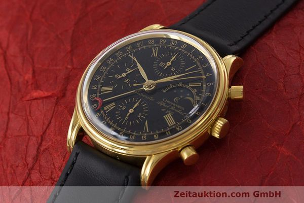 Used luxury watch Chronoswiss A. Rochat chronograph gold-plated automatic Kal. Valj. 7750 Ref. 77990  | 162177 01
