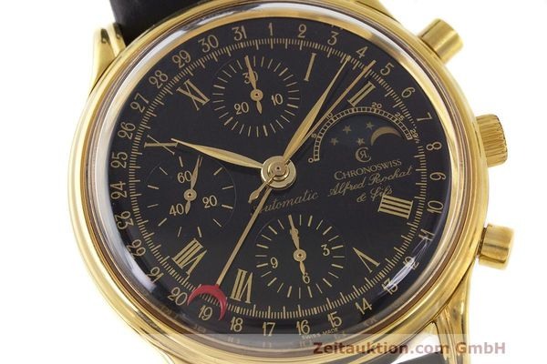 Used luxury watch Chronoswiss A. Rochat chronograph gold-plated automatic Kal. Valj. 7750 Ref. 77990  | 162177 02