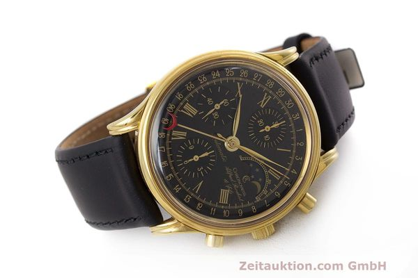 Used luxury watch Chronoswiss A. Rochat chronograph gold-plated automatic Kal. Valj. 7750 Ref. 77990  | 162177 03