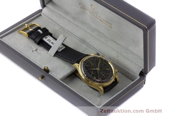 Used luxury watch Chronoswiss A. Rochat chronograph gold-plated automatic Kal. Valj. 7750 Ref. 77990  | 162177 07