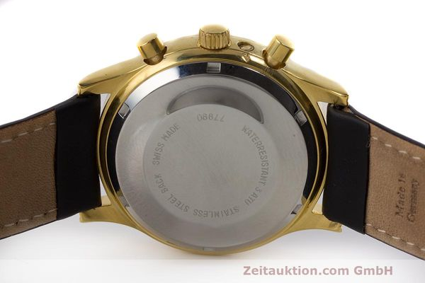 Used luxury watch Chronoswiss A. Rochat chronograph gold-plated automatic Kal. Valj. 7750 Ref. 77990  | 162177 09