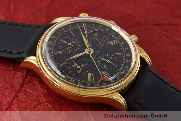 Used luxury watch Chronoswiss A. Rochat chronograph gold-plated automatic Kal. Valj. 7750 Ref. 77990  | 162177 12