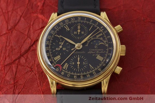 Used luxury watch Chronoswiss A. Rochat chronograph gold-plated automatic Kal. Valj. 7750 Ref. 77990  | 162177 13